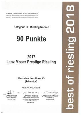 Oceněný Ryzlink Prestige 2017